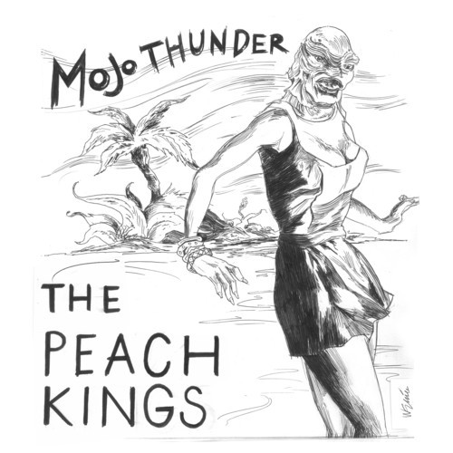 Los Angeles blues rock duo The Peach Kings blend thick, loud guitars with soft, eerie vocals on their new EP, Mojo Thunder.