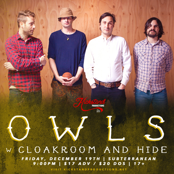Owls Concert Poster for 12/19